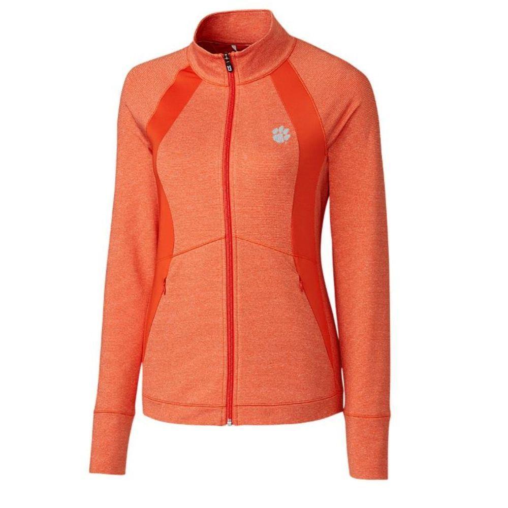 Clemson Cutter & Buck Women's Shoreline Colorblock Jacket