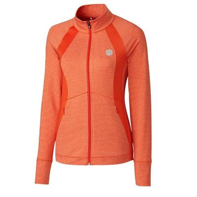Clemson Cutter & Buck Women's Shoreline Colorblock Jacket