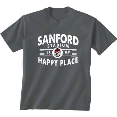 Women's Sanford Stadium Is My Happy Place Tee