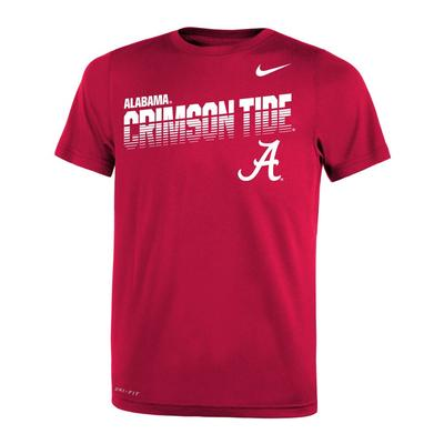 Alabama Nike Youth Legends DriFit Tee