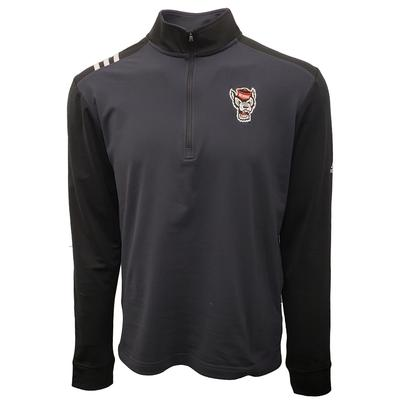 NC State Adidas Golf 1/2 Zip Pullover CARBON
