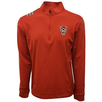 NC State Adidas Golf 1/2 Zip Pullover RED