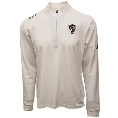 NC State Adidas Golf 1/2 Zip Pullover WHITE