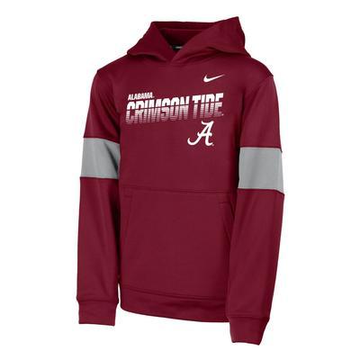 Alabama Nike Youth Therma Colorblock Hoody