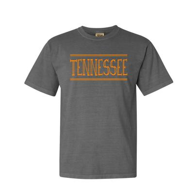 Tennessee Hand Drawn Double Bar Comfort Colors Tee