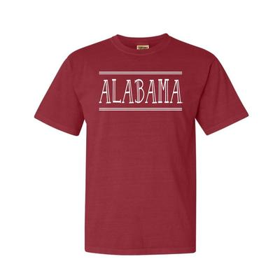 Alabama Hand Drawn Double Bar Comfort Colors Tee
