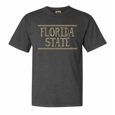 Florida State Hand Drawn Double Bar Comfort Colors Tee