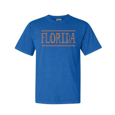 Florida Hand Drawn Double Bar Comfort Colors Tee