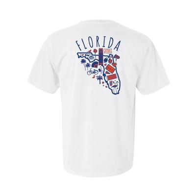 Florida Hand Drawn State Icons Comfort Colors Tee