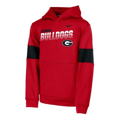 Georgia Nike Youth Therma Colorblock Hoody