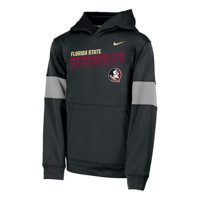 Florida State Nike Youth Therma Colorblock Hoody