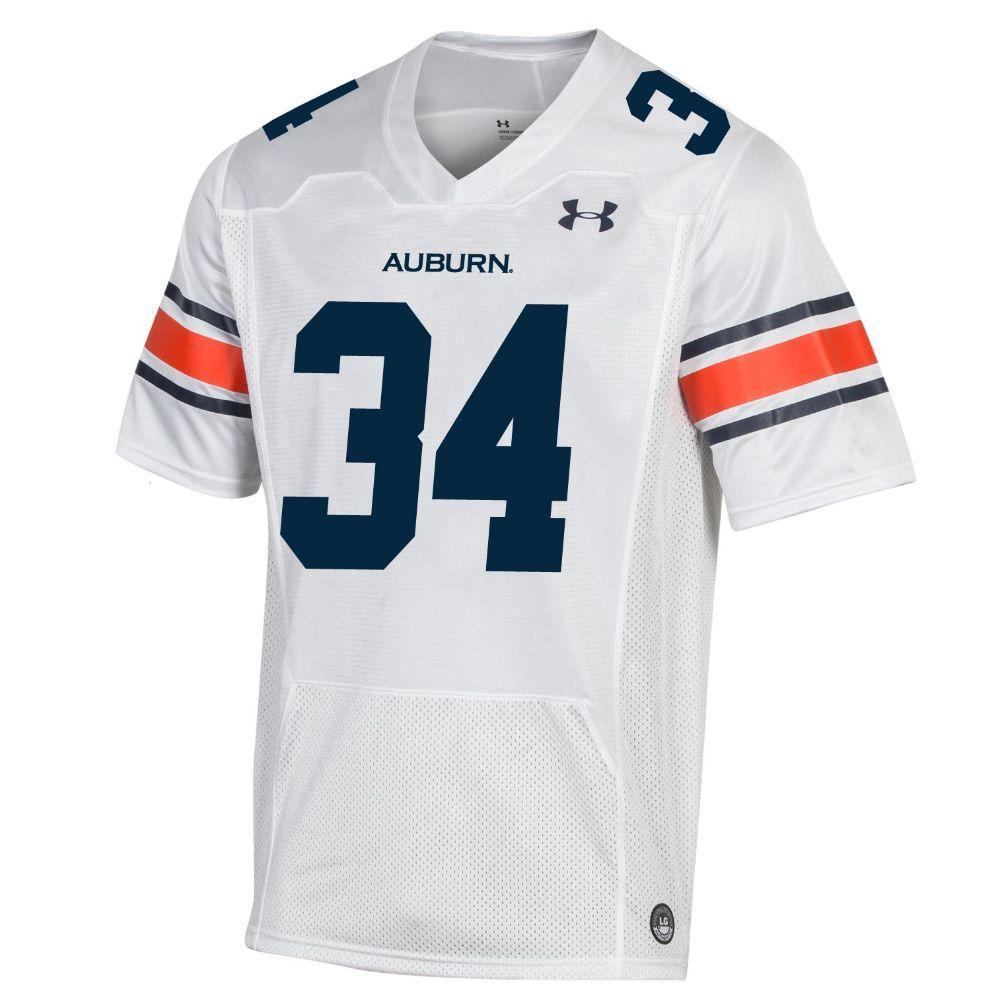 Aub Auburn Under Armour 34 Replica Football Jersey