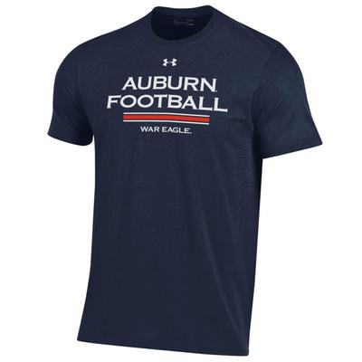 Auburn Under Armour Performance Cotton Tee NAVY
