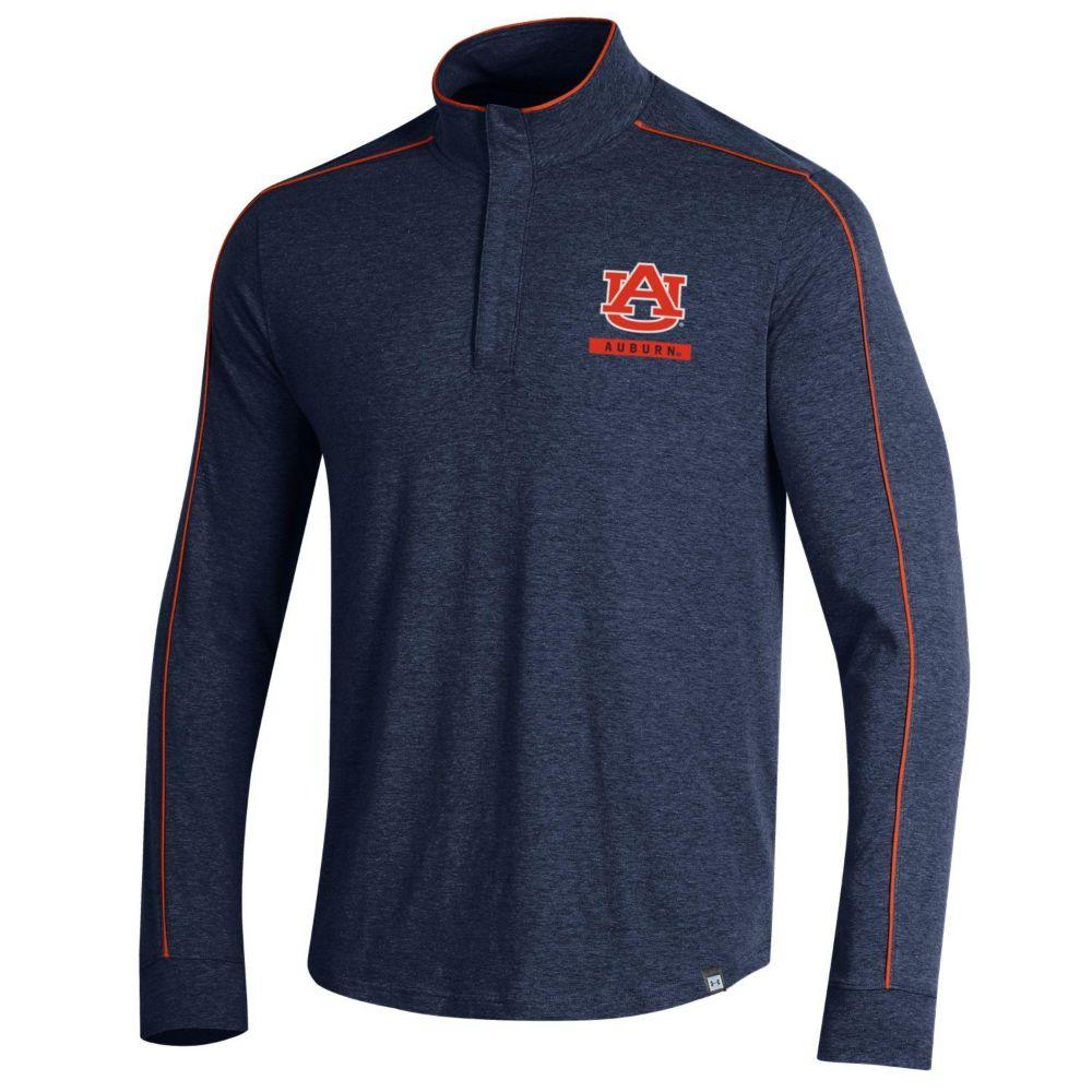Auburn Under Armour Charged Cotton Piped 1/4 Zip