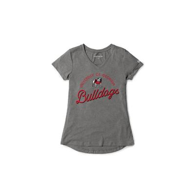 Georgia League Women's Tri-flex Retro V-Neck Top
