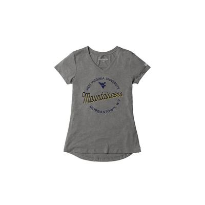 West Virginia League Women's Tri-flex Retro V-Neck Top