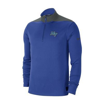 MTSU Nike DriFit 1/4 Zip Pullover