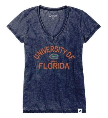 Florida League Women's Distressed V-Neck Top