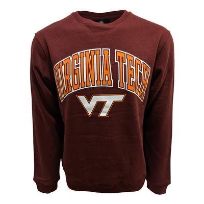 Virginia Tech Arch W/Logo Screen Crewneck Sweatshirt