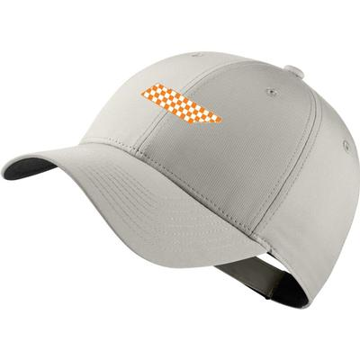 Tennessee Nike Golf Legacy Adjustable Checkerboard State Tech Cap LT_BONE