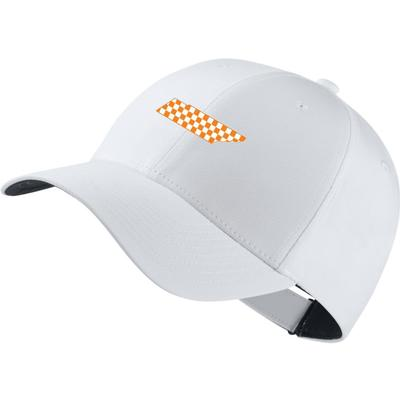 Tennessee Nike Golf Legacy Adjustable Checkerboard State Tech Cap WHITE