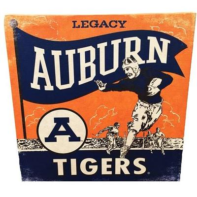 Auburn Retro Football Player Canvas 14