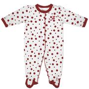 Alabama Infant Polka Dot Footed Creeper