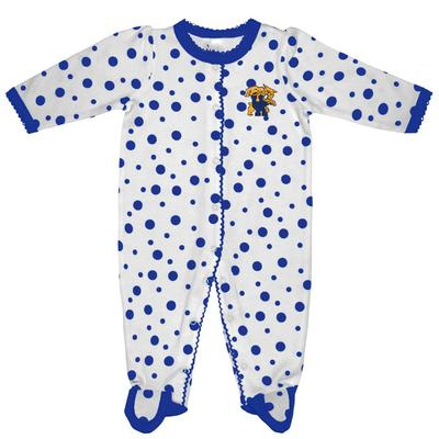 Kentucky Infant Polka Dot Footed Creeper