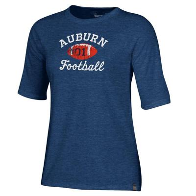 Auburn Under Armour Triblend Script Football Tee