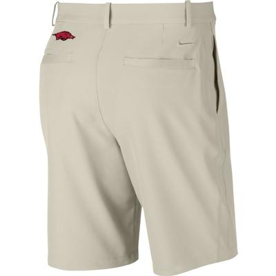 Arkansas Nike Golf Flex Hybrid Shorts BONE