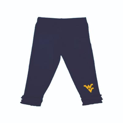 West Virginia Infant Ruffle Leggings