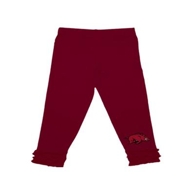 Arkansas Infant Ruffle Leggings