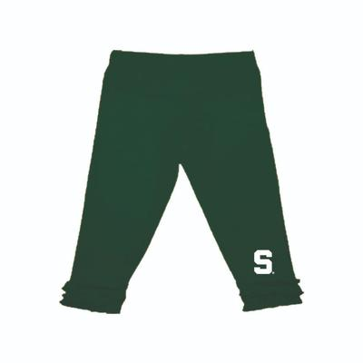 Michigan State Infant Ruffle Leggings