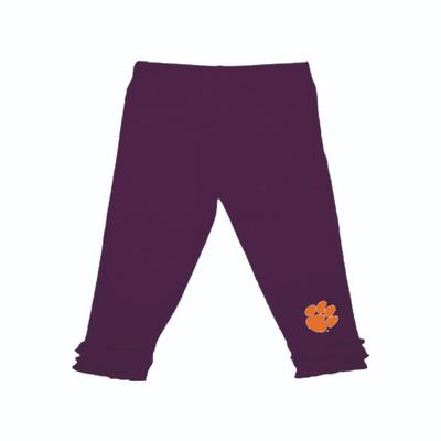 Clemson Infant Ruffle Leggings
