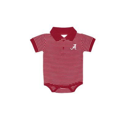 Alabama Infant Striped Polo Onesie