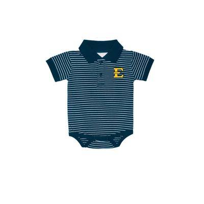 ETSU Infant Striped Polo Onesie
