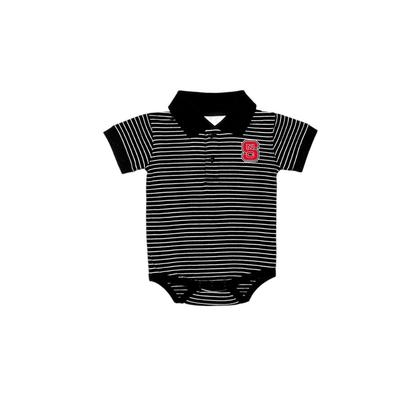 NC State Infant Striped Polo Onesie