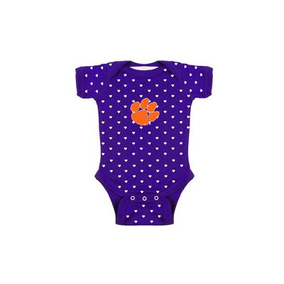 Clemson Infant Heart Onesie