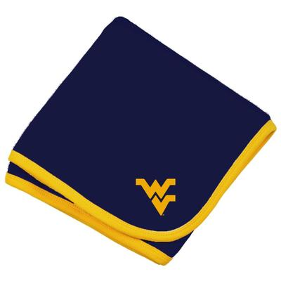 West Virginia Infant Knit Blanket
