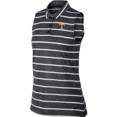 Tennessee Nike Golf Women's Sleeveless Striped Golf Polo