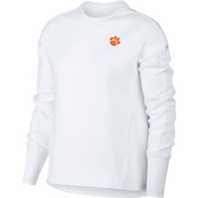 Clemson Nike Golf Women's Crew Fleece Golf Top