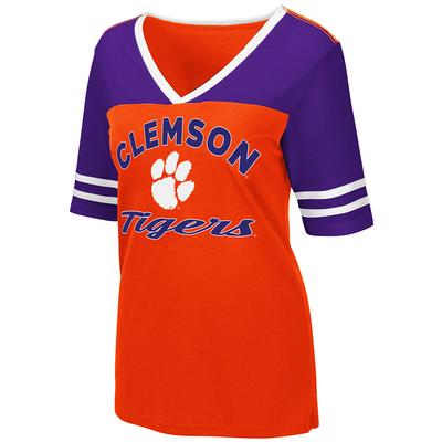 Clemson Women's Colosseum Samantha Athletic Fit Tee