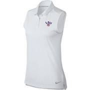 Lsu Nike Golf Women's Dry Sleeveless Polo