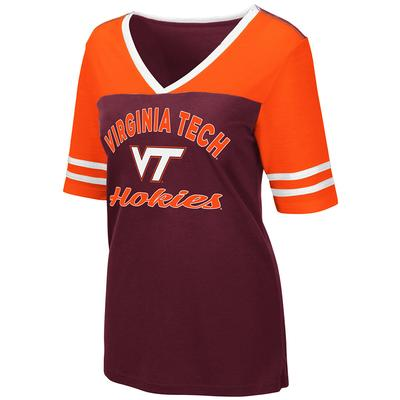 Virginia Tech Women's Colosseum Samantha Athletic Fit Tee
