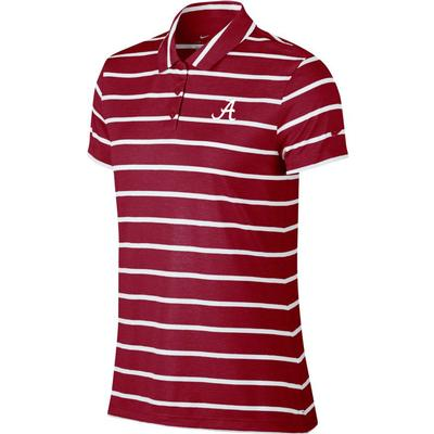 Alabama Nike Golf Women's Dry Stripe Polo