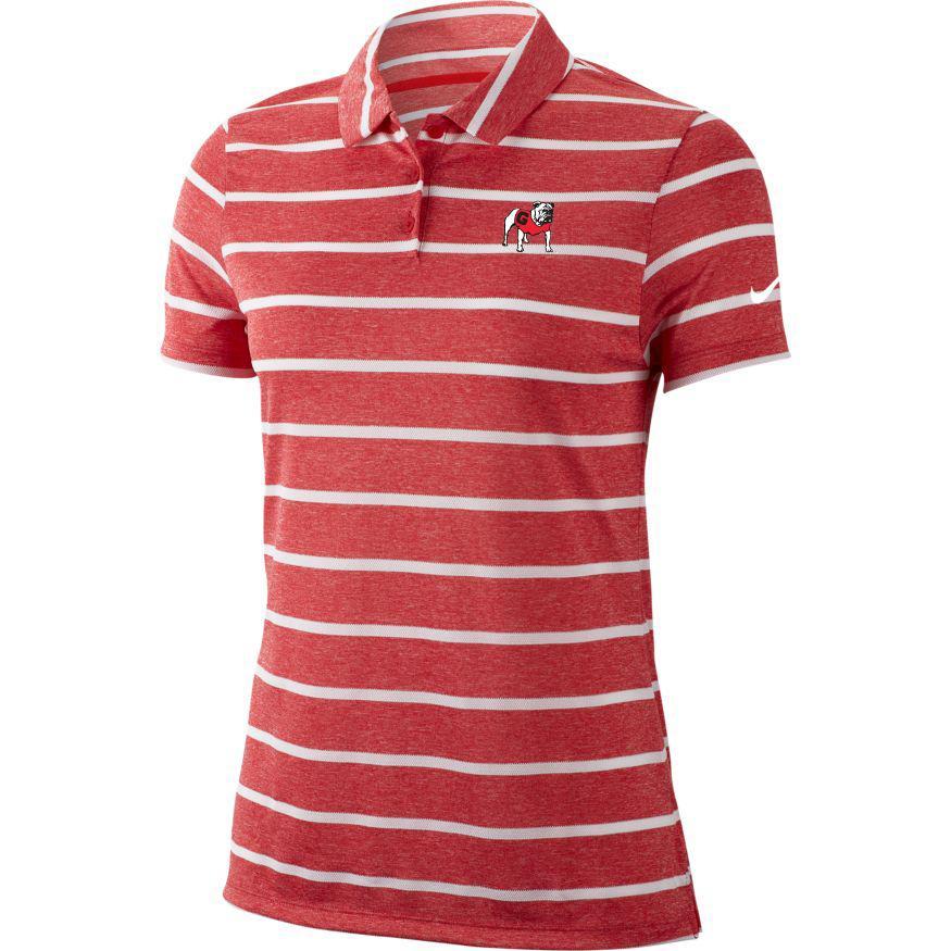 Georgia Nike Golf Women's Dry Stripe Polo