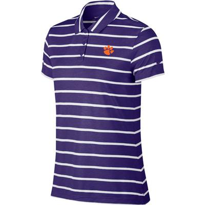 Clemson Nike Golf Women's Dry Stripe Polo