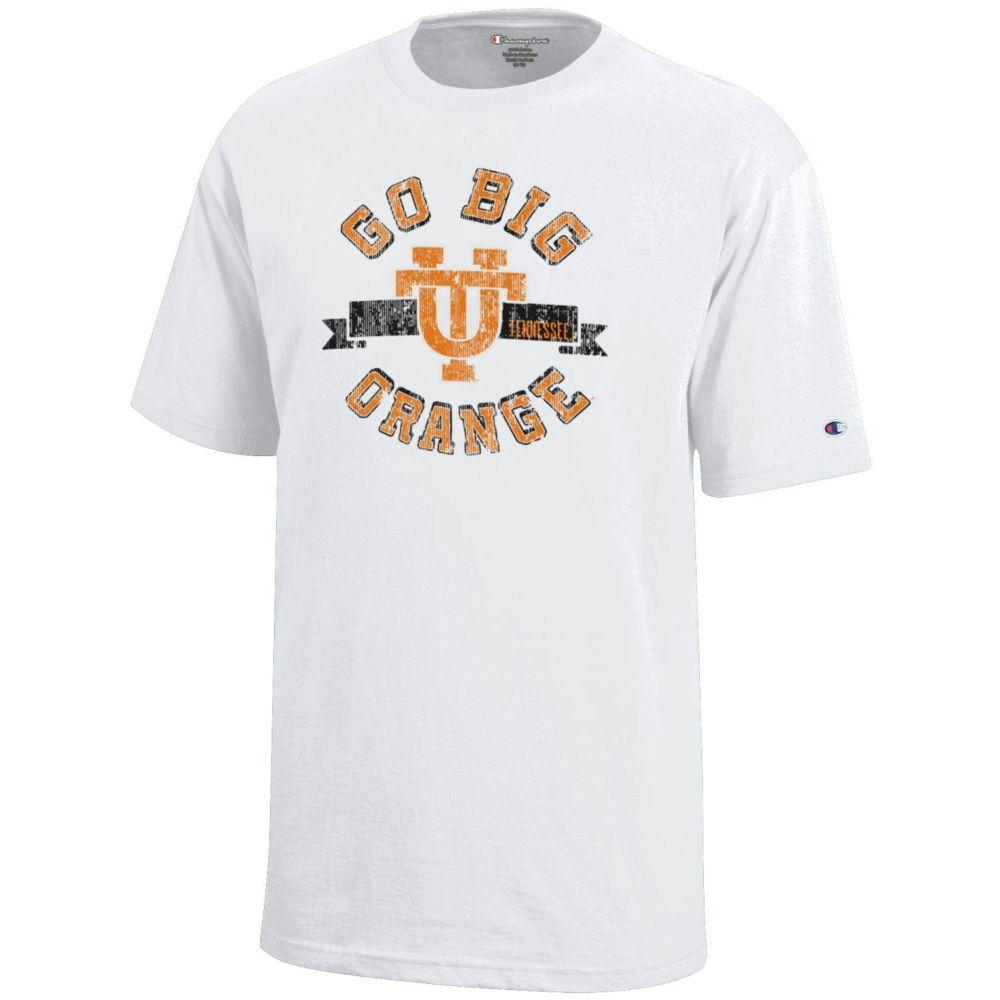 Tennessee Youth Vault Go Big Orange Ut Tee Shirt