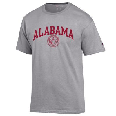 Alabama College Seal Tee HTHR_GREY