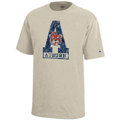 Auburn Youth Tiger Block A Tee Shirt